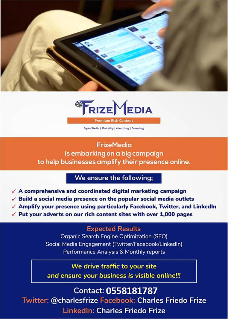 FrizeMedia Ghana SEO SEM Digital Marketing
